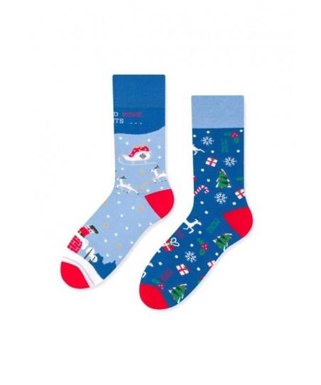 More 078 Mikuláš Asymetrické dámské ponožky