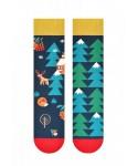 More 079 vánoční Pánské asymetrické ponožky