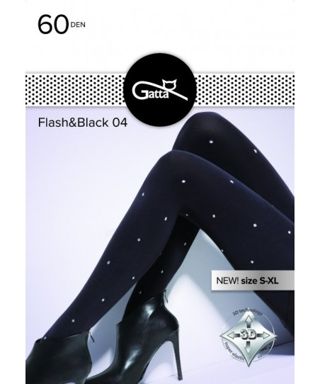 Gatta Flash &amp Black wz.04 60 den 5XL Punčochové kalhoty
