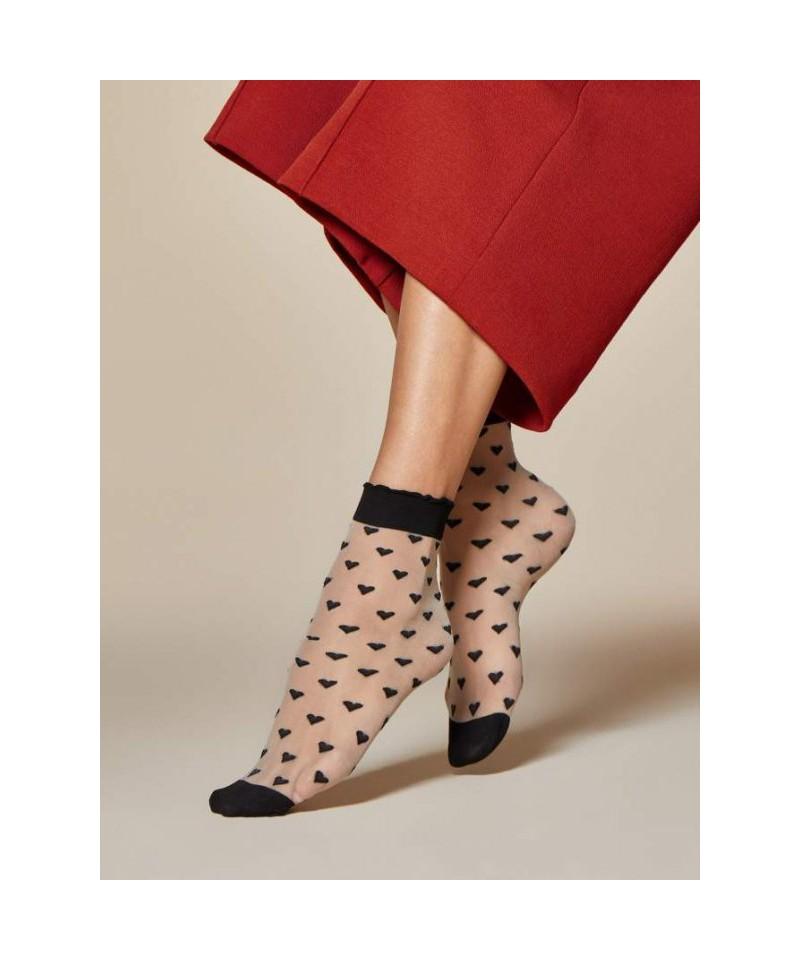 Fiore Jeunet 20 DEN Ponožky, UNI, Černá